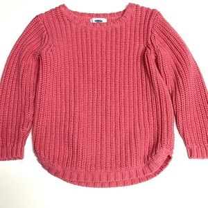 Old Navy Heavy Knit Chunky Sweater Pink 5T